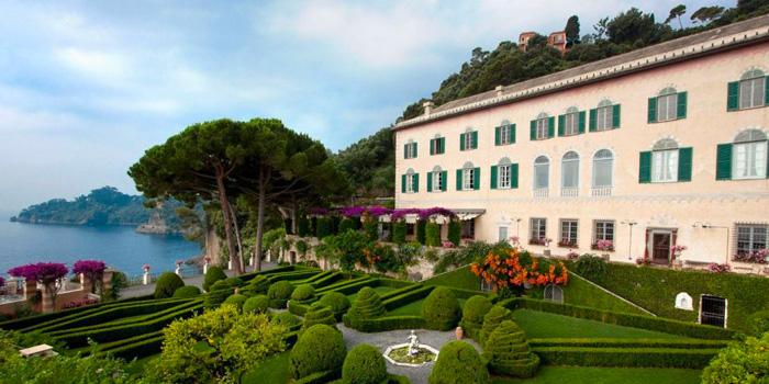 En un jardín italiano, Portofino